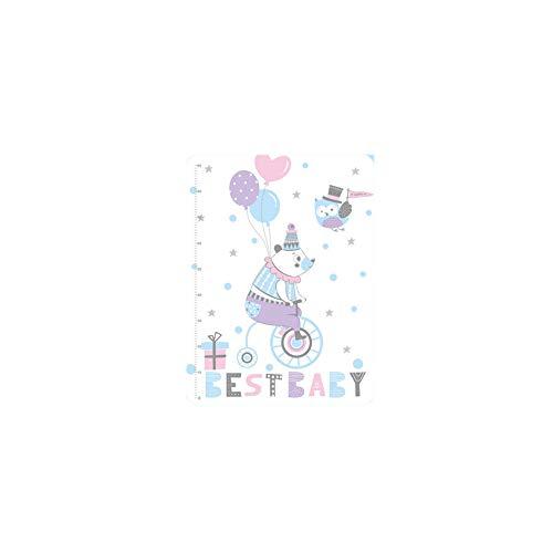 LjzlSxMF Wickelunterlage Wasserdicht Baby-windel-matten-Auflage Altenpflege Matte Waschbare Säuglingsbabybett Isomatte Blatt Matratze Auflage-Abdeckung Für Kinderwagen Krippe Auto-rosa-blau-bär