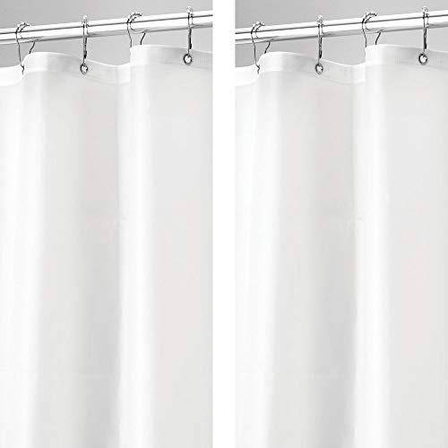 mDesign - 2 Pack - Waterproof, Mold/Mildew Resistant, Heavy...