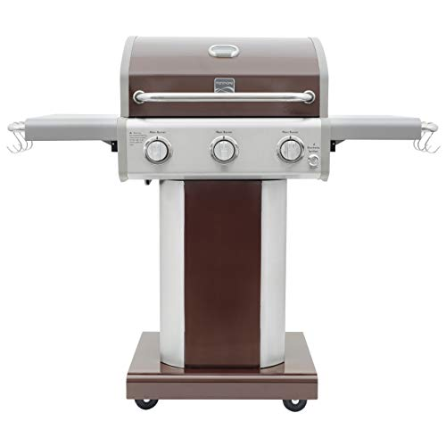 Kenmore PG-4030400LD-MOCHA-AM 3 Burner Outdoor Patio Gas BBQ Propane Grill, Mocha Grills Propane