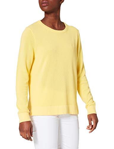 GANT Cotton Pique C-Neck Suéter, Amarillo Brimstone, M para Mujer