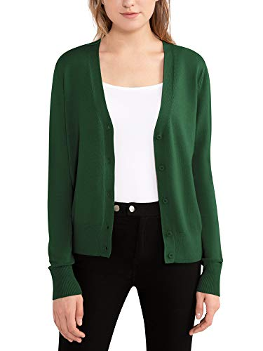 Woolen Bloom Cardigan Sweater for Women Lightweight Spring Womens Cardigan V Neck Button Down Long Sleeve Casual Tops Army Green