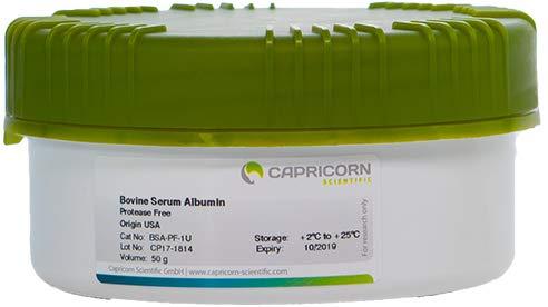 Bovine Serum Albumin, Protease Free, Origin USA 50 g