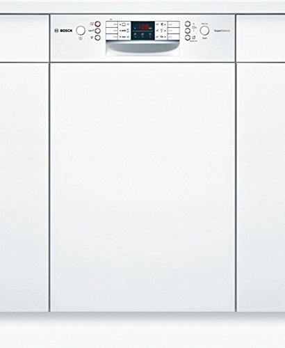 Bosch Serie 4 SPI46MW01E lavavajilla Semi built-in 10 place settings A+ - Lavavajillas (Semi built-in, Slimline (45 cm), White, Buttons, 1.75 m, 1.4 m)