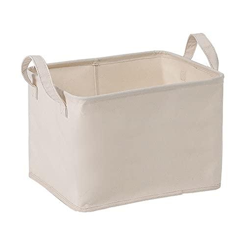 Cestas de lavandería con mango Almacenamiento Almacenamiento Cestas plegables depósito de almacenamiento de juguete de almacenamiento de lienzo de tela de tela de lavandería para toallas de juguetes d