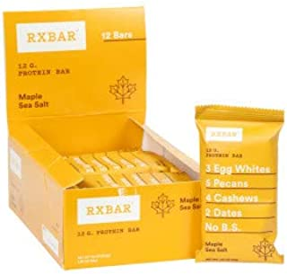 RxBar Maple Sea Salt Real Food Protein Bars (Pack of 12)