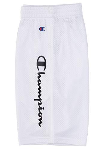 Champion Jungen performance basketball mesh shorts mittel weiß / schwarz script