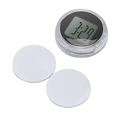 "OurLeeme Mini Impermeable Stick-On Reloj de la Motocicleta Reloj de la Motocicleta Reloj Digital del Coche hasta 1 año Vida útil de la batería Dia. 1.1"" (1PCS)"