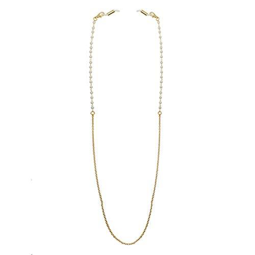 lfdhcn Metall Perle Perlen Lesegläser Kette Sonnenbrillenhalter Brillenhalter