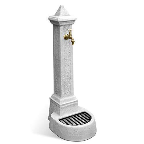 Fontana da Giardino Esterno in Cemento Pietra KAM modello LECCE colore Grigio
