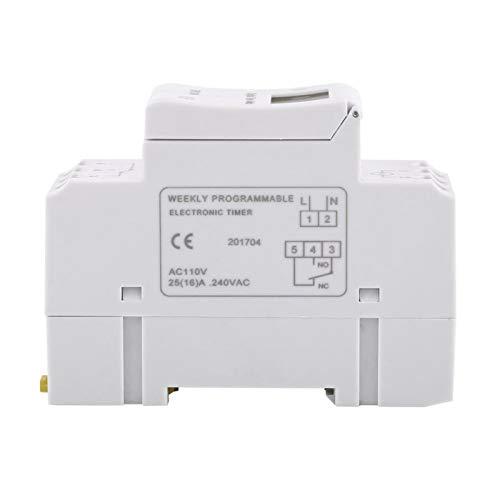 Temporizador THC15A del interruptor del tiempo del relé electrónico de la pantalla LCD digital de 16on & 8off para controlar las farolas de la calle(110V)
