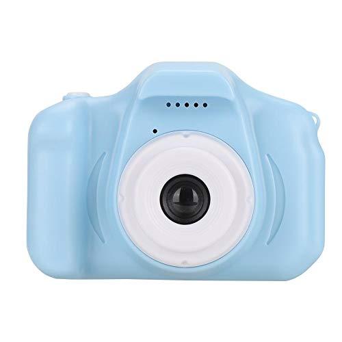 VBESTLIFE draagbare kindercamera, 2,0-inch 1080P multifunctioneel kleurendisplay mini-kinder-digitale camera met draaglus voor kindergeschenk-blauw