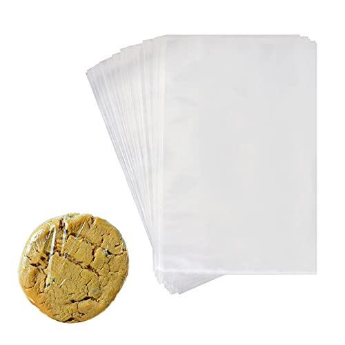Food Grade Shrink Wrap Bags for Cookies,Cake,100Pcs 4x6 Inch Clear POF Heat Shrink Wrap Bags