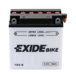 Bateria de moto Exide YB9-B Con pac de acido inc. 12V 9Ah