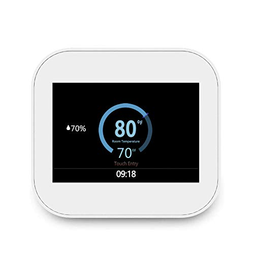 Touchscreen Smart Wifi Modbus 7days Programmable Thermostat MC6-U With Humidifier/Dehumidifier Control, Compatible with Alexa, White