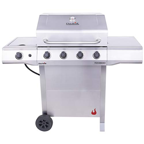 Char-Broil 463352521 Performance 4-Burner Cart Style Liquid Propane Gas Grill, Stainless Steel