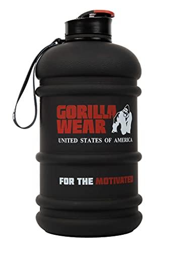 Gorilla Wear - Wasser-Krug 2,2 L - Schwarz - Freizeit Sport Training für Flüssigkeit Wasser Hydratation Krafttraining After Workout mit Logo Aufdruck leicht handlich