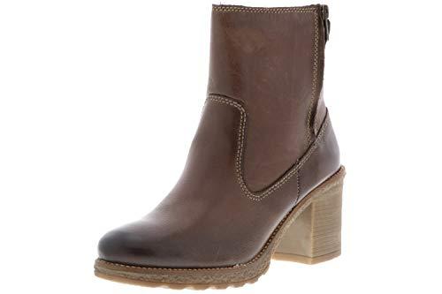 Klondike Damen Winterstiefel Stiefeletten Boots braun, Größe:37, Farbe:Braun