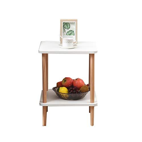 LSX-salontafel Kleine salontafel, kleine bijzettafel Mini Scandinavisch Houten Dubbele nachtkastje Woonkamer Slaapbank Zijkast Eenvoudige Moderne bijzettafel