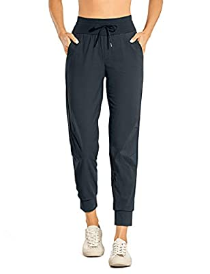 CRZ YOGA Women's Hiking Pants Lightweight Quick Dry Drawstring Joggers with Pockets Elastic Waist Travel Pull on Pants True Navy X-Small