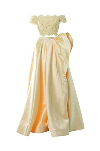 Sherri Hill Kleid 2 Stück gelb, Dekolletiertes, Gelb 32