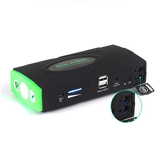 Qinuo Draagbare autostarthulp, 600 A, 9000 mAh, autobatterijstarter, externe acculader met led-zaklamp voor laptop, smartphone, tablet en nog veel meer