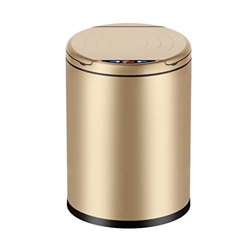 STRAW La Basura del Sensor de Movimiento automático sin Contacto Can, Papelera (Color: Oro, tamaño: 25 * 25 * 36cm)