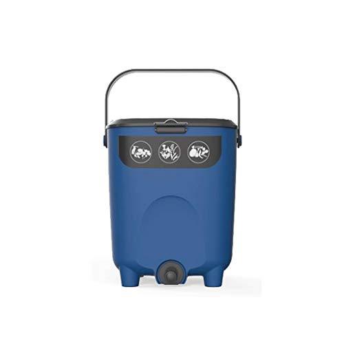 NYKK Mülltonnen Küche Balkon Garten Compost Bin, Grün Müllabfallsammler 2,6 Gallonen (Color : Blue)