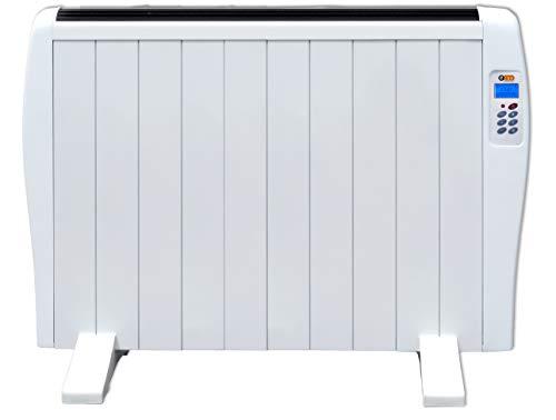 ECON HE10 - Radiateur électrique programmable à inertie sèche, chauffage rapide, usage idéal ≤1h, pièces de +/- 17-24 m², 1500W, Blanc