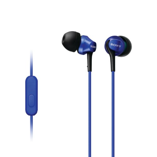 Sony MDR-EX100AP/L In-Ear Headset for Android Smartphone, Blue