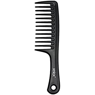 xnicx Wide tooth comb Detangling Hair Brush Wide Comb Detangler Comb Paddle Hair Comb Care Handgrip Comb-Best Styling Comb for Long, Wet or Curly Hair-Improve Blood Circulation Black