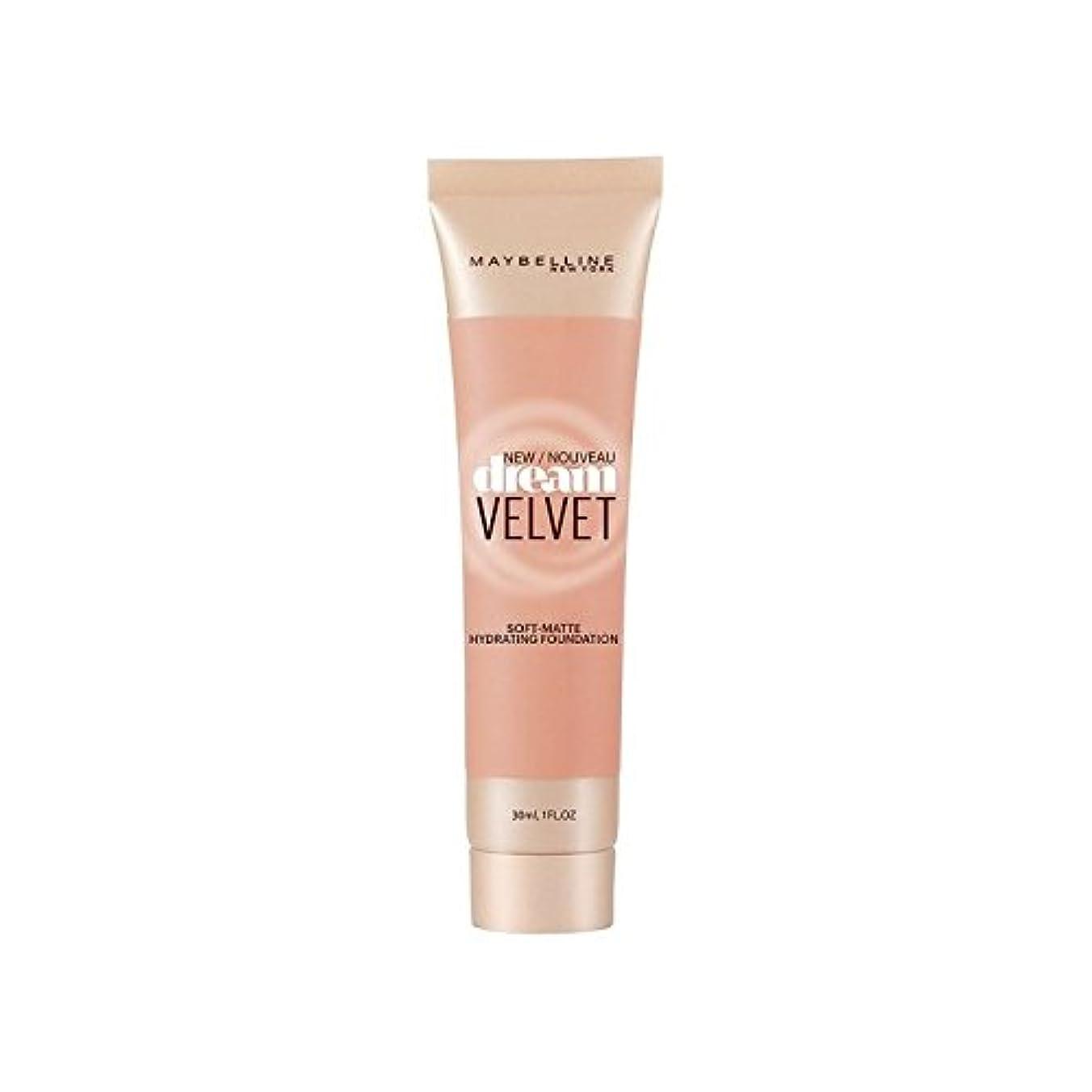 シーンレジアパートMaybelline Dream Velvet Foundation Honey Beige (Pack of 6) - メイベリンの夢のベルベット基盤ハニーベージュ x6 [並行輸入品]
