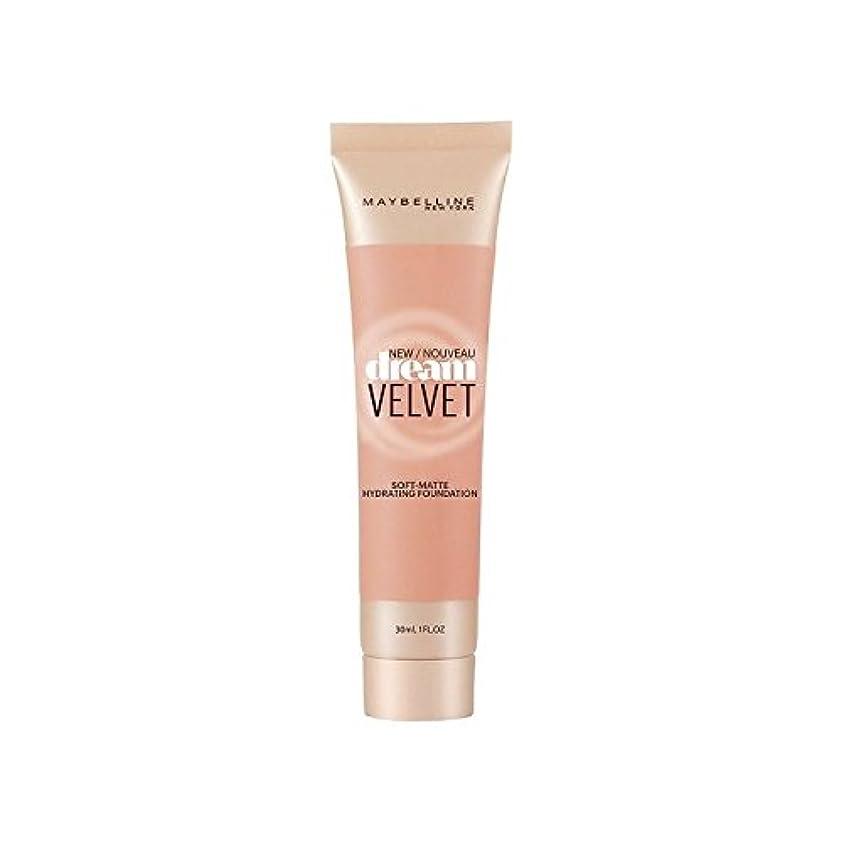 寛大さ芸術逆さまにメイベリンの夢のベルベット基盤ハニーベージュ x4 - Maybelline Dream Velvet Foundation Honey Beige (Pack of 4) [並行輸入品]