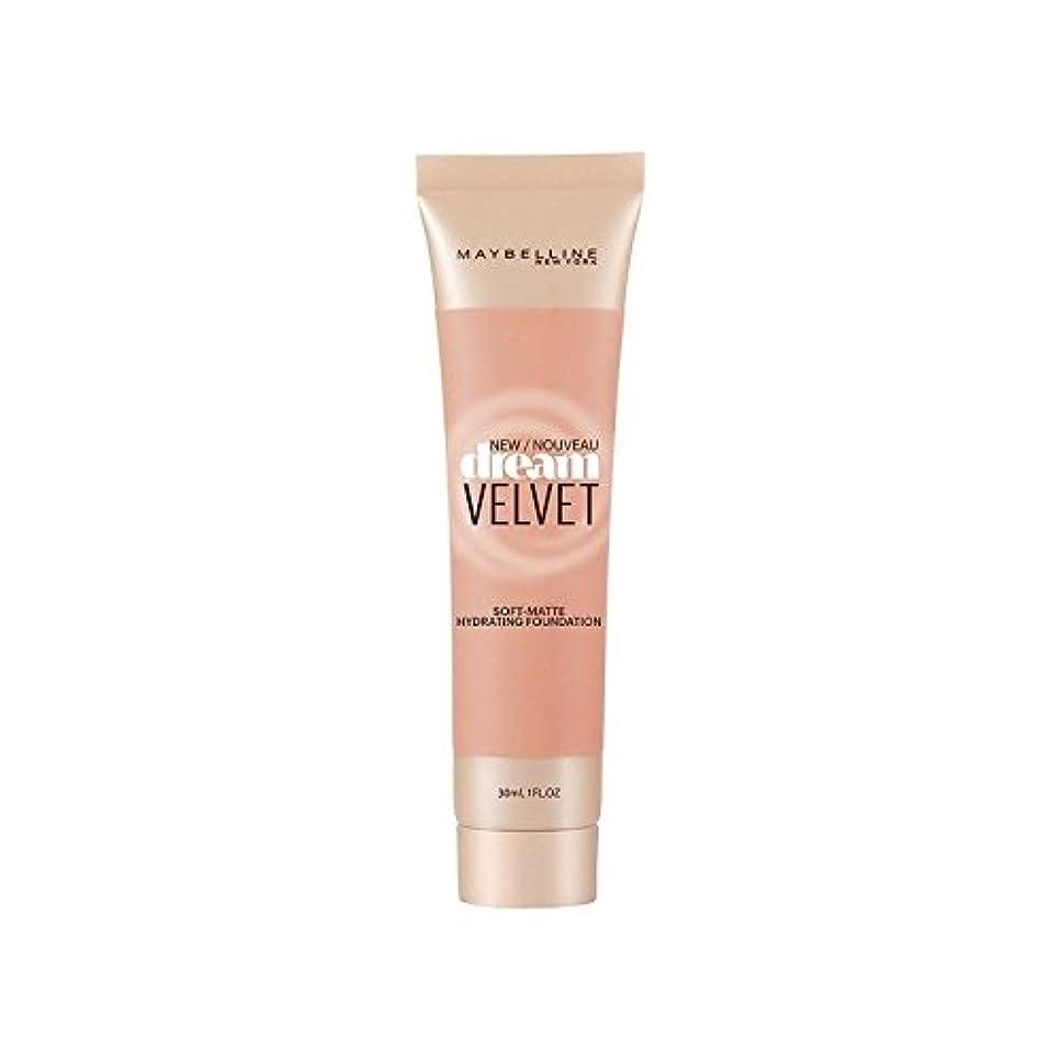 苗抗議かもめMaybelline Dream Velvet Foundation Honey Beige (Pack of 6) - メイベリンの夢のベルベット基盤ハニーベージュ x6 [並行輸入品]