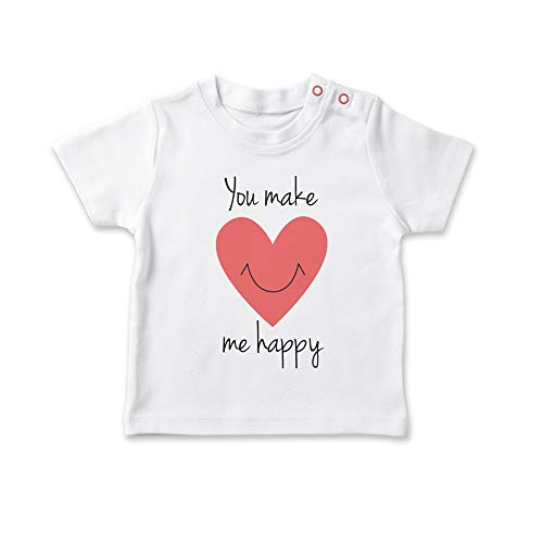 SUPERMOLON baby T-shirt You make me happy 1-2 años Regulable