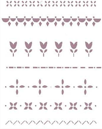 Multicolor Stamperia Plantilla de stencil motivo P/ájaro Taglia unica