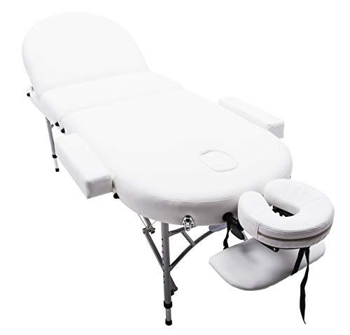 Massage Imperial® - tragbare Massageliege Consort - Aluminium 14Kg - 7 cm Schaumstoff Mit Hoher Dichte - Creme