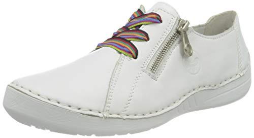 Rieker Damen Sneaker, Hard White White 52511 80,37 EU