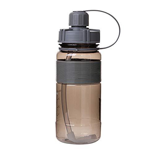 tianxiangjjeu Botrle de agua opcional de gran capacidad portátil taza de agua al aire libre hervidor de agua deportes beber pajita botella negro 1000 ml