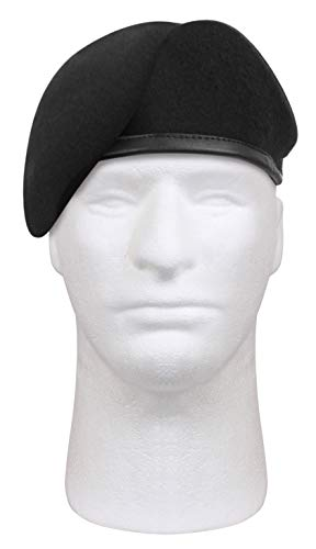 Rothco Gi Type Inspection Ready Beret, Black, 7.25