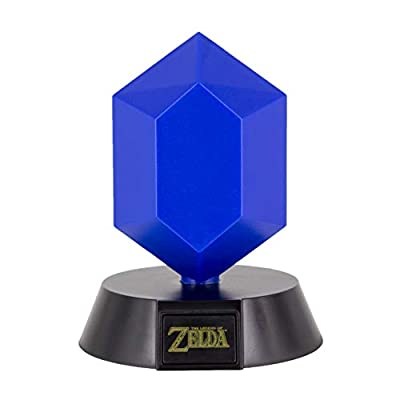 Paladone Blue Rupee Icon Light Officially Licensed Nintendo Collectable | Ideal for Kids Bedrooms, Office & Home | Pop Culture Gaming Merchandise, 3.75 W, Multicolored