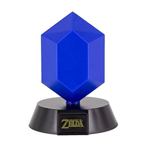 The Legend of Zelda Blue Rupee 3D Leuchte Icon Light blau, bedruckt, 100% Kunststoff, mit LED's.