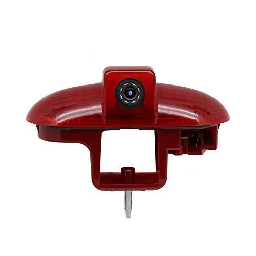 Red Wolf, telecamera posteriore per auto, con 3° luce di freno, per auto, terzo tetto, luce del freno per Opel Renault Fiat Nissan RCA adattatore