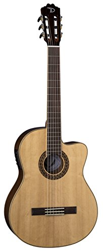 Dean 6 String Espana Fusion Acoustic-Electric Guitar Solid Spruce-Gloss Natural (CFSS GN)