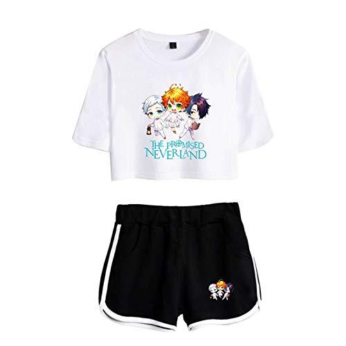 The Promised Neverland Camiseta + Conjunto Corto, Emma Norman Ray Print Anime...