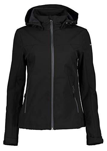 ICEPEAK Damen Boise Softshell Jacke, schwarz, 46