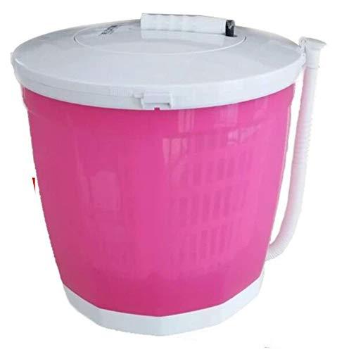 Mini Turbo Waschmaschine Handbetriebene manuelle halbautomatische Kleidung Hostels Mini Waschmaschine für Restaurant Gemüse Obst Rot