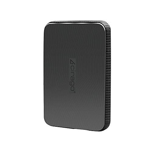 Cirago 1To Slim Disque Dur Externe Portable Disque Dur résistant aux Chocs USB 3.0 pour PC, Mac, Ordinateur de Bureau, Ordinateur Portable, MacBook, Chromebook, Xbox One, Xbox 360, PS4 (Noir) (1TB)