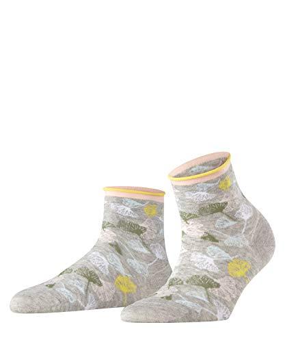 Esprit Damen Ginkgo Leaves W SSO Socken, Grau (Light Grey 3400), 39-42 (UK 5.5-8 Ι US 8-10.5) (1er Pack)