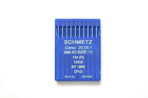 SCHMETZ Agujas industriales para máquina de coser CANU 20:05 1, 134R, SY 1955, DPx5 (12/80)