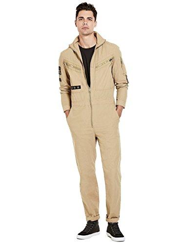 Guess Herren Patchwork Jumpsuit, Slate Green Washed, Groß